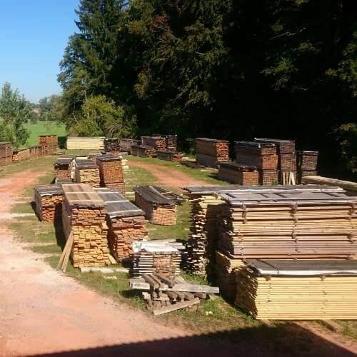 Freilufttrockung Holz