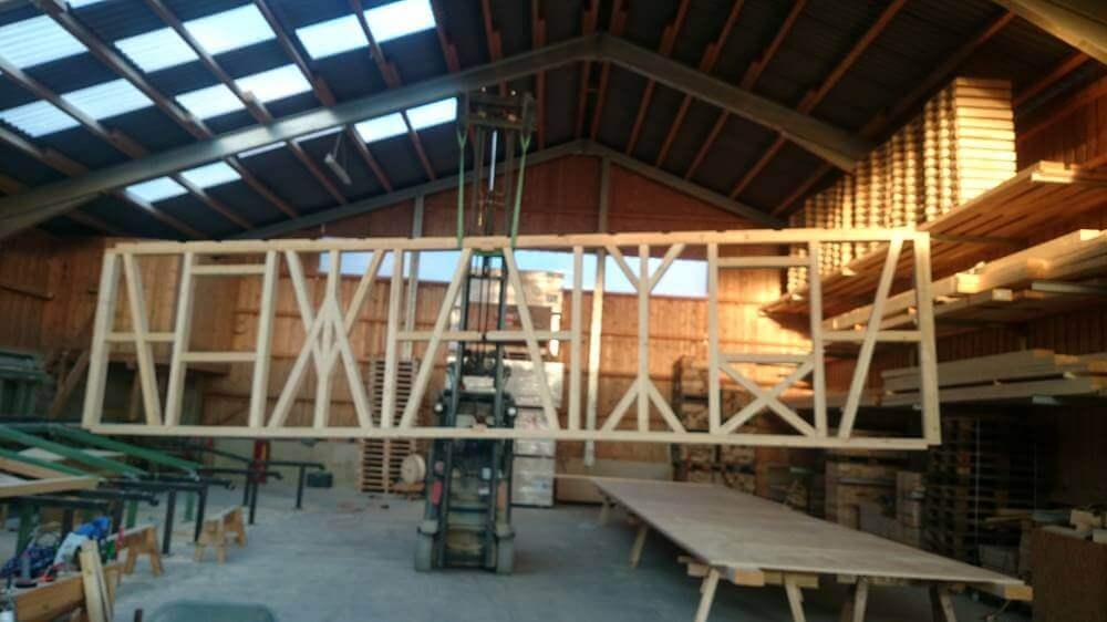 Lohnabbund Holz Gabelstapler